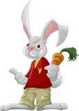Het konijn met wortel Royalty-vrije Stock Afbeeldingen