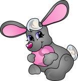 Het konijn van het beeldverhaal vector illustratie