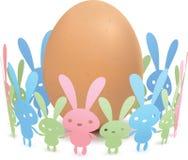 Het Konijn van het ei en van het Document Stock Afbeeldingen