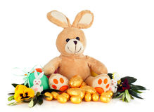 Het konijn van Peluche Stock Afbeeldingen