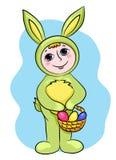 Het konijnkind van Pasen Stock Afbeelding