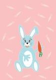 Het konijntje van de illustratie met wortel Stock Afbeelding
