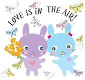 Het konijntje van de liefde Royalty-vrije Stock Afbeeldingen