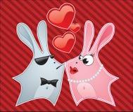 Het konijntje van de liefde royalty-vrije illustratie