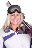 Het konijntje van de ski Royalty-vrije Stock Afbeeldingen