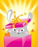 Het konijntje van de valentijnskaart Stock Afbeelding