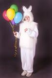 Het konijntje van het meisje Royalty-vrije Stock Foto's