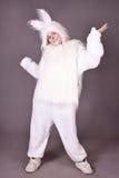 Het konijntje van het meisje Stock Foto
