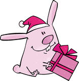 Het konijntje van Kerstmis Stock Foto's