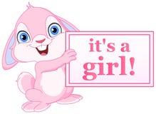 Het konijntjesmeisje van de baby Stock Afbeelding