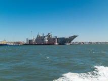 Het koninklijke Australische schip van Marinehmas Canberra amfibische assult stock fotografie