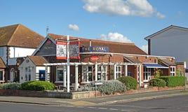 Het koninklijke café Stock Foto's