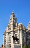 Het koninklijke Gebouw van de Lever, Liverpool Stock Afbeeldingen