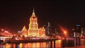Het Koninklijke Hotel van Radisson Timelapse stock videobeelden