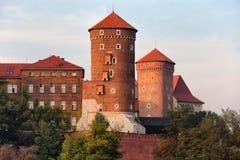 Het Koninklijke Kasteel van Wawel in Krakau Stock Foto's