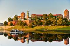 Het Koninklijke Kasteel van Wawel in Krakau Royalty-vrije Stock Foto