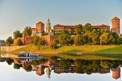 Het Koninklijke Kasteel van Wawel in Krakau Stock Afbeelding