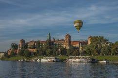 Het Koninklijke kasteel van Wawel in Krakau, Polen Stock Foto
