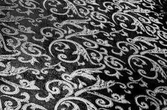 het Koninklijke monogram van de zijdedoek Rebecca 36 Het goud en de luxe zijn stock afbeeldingen