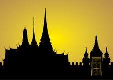 Het koninklijke paleis van Bangkok stock illustratie