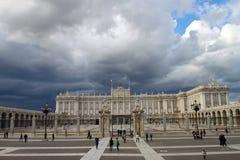 Het koninklijke paleis van Madrid Stock Afbeelding