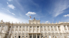 Het koninklijke paleis van Madrid Royalty-vrije Stock Foto