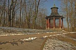 Het Koninklijke Park van Wilanow Stock Fotografie