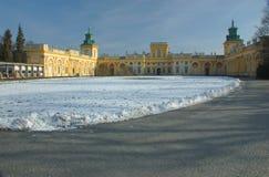 Het Koninklijke Park van Wilanow Stock Foto's
