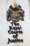 Het koninklijke teken van Hof van Justitie Royalty-vrije Stock Afbeeldingen