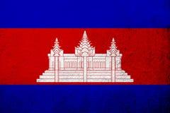 Het Koninkrijk van de Nationale vlag van Kambodja Cambodja Kan als prentbriefkaar worden gebruikt vector illustratie