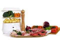 Het kooktoestel van de stoom, lapje vlees Royalty-vrije Stock Fotografie