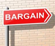 Het koopjesteken betekent Speciale aanbieding 3d Illustratie Stock Afbeeldingen