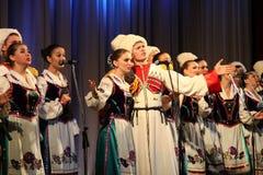 Het koor van de drie vrouwen in het Russische leger Royalty-vrije Stock Foto