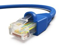 Het koord van Internet van het computernetwerk stock afbeelding
