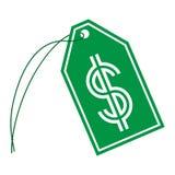 Het Koordmarkering van het dollarteken stock illustratie