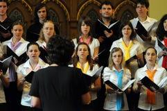 Het koorfestival van de jeugd Stock Foto's