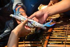 Het kopen Krabben Stock Fotografie