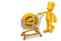 Het kopen van een domein vector illustratie