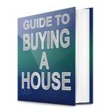 Het kopen van het huis concept. royalty-vrije illustratie