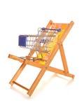 Het kopen van uw vakantie online het winkelen karretje Royalty-vrije Stock Foto