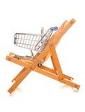 Het kopen van uw vakantie online het winkelen karretje Royalty-vrije Stock Afbeeldingen