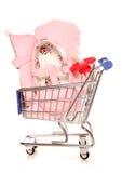 Het kopen voor uw nieuw baby het winkelen karretje Royalty-vrije Stock Afbeeldingen