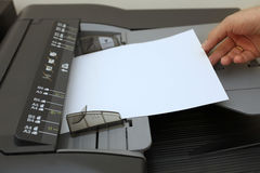 Het kopieerapparaatmachine van de laser Stock Afbeeldingen