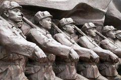 Het Koreaanse beeldhouwwerk van de Oorlog royalty-vrije stock foto's