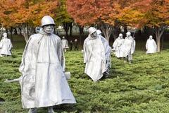 Het Koreaanse Gedenkteken van de Oorlog Stock Afbeeldingen
