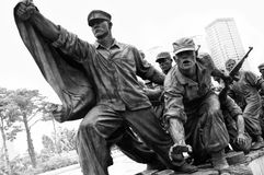 Het Koreaanse gedenkteken van de Oorlog, Seoel Stock Fotografie