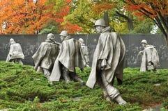 Het Koreaanse Gedenkteken van de Veteranen van de Oorlog stock foto's
