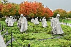 Het Koreaanse Gedenkteken van de Veteranen van de Oorlog Stock Afbeelding