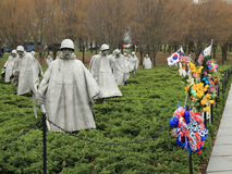 Het Koreaanse Gedenkteken van de Veteranen van de Oorlog Stock Afbeeldingen