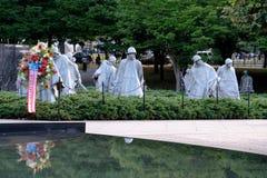 Het Koreaanse Gedenkteken van Oorlogsveteranen in Washington D C Royalty-vrije Stock Afbeeldingen